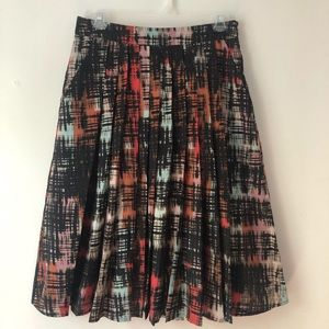 Anthropologie pleated skirt